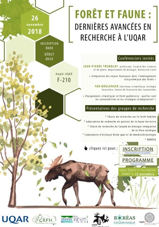 Affiche_colloque_foret-faune2018 (Auteur : UQAR)
